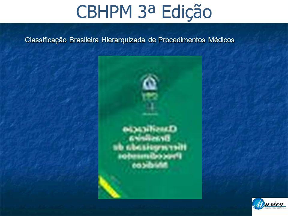 Classificação Brasileira Hierarquizada de Procedimentos Médicos CBHPM 3ª Edição