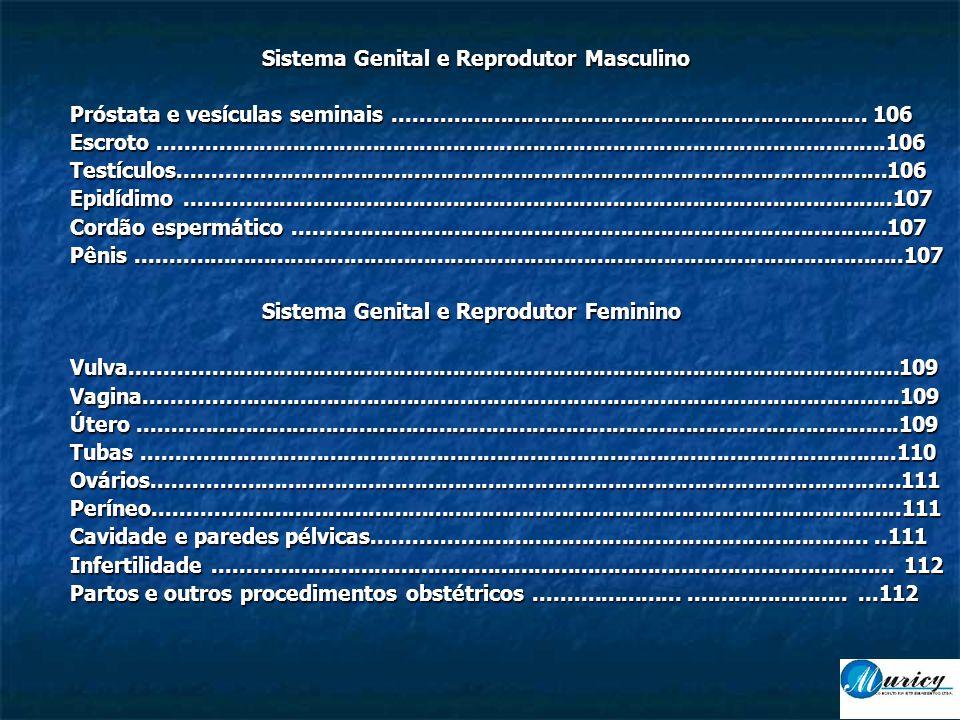 Sistema Genital e Reprodutor Masculino Próstata e vesículas seminais.......................................................................