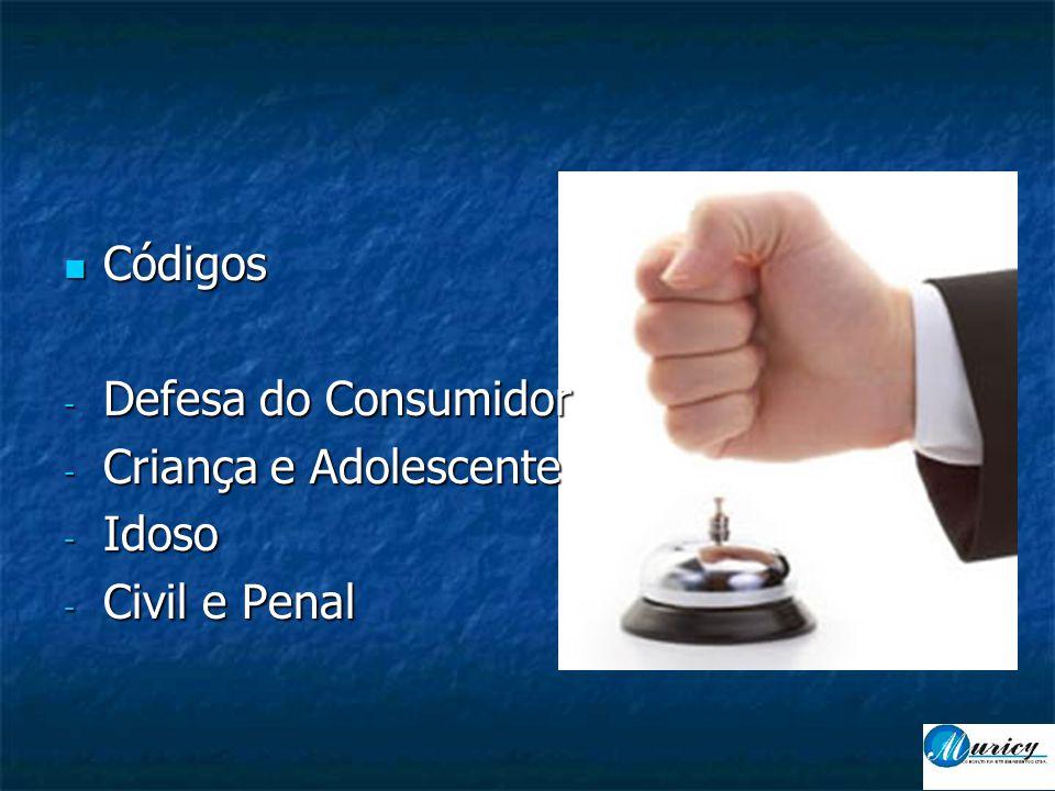  Códigos - Defesa do Consumidor - Criança e Adolescente - Idoso - Civil e Penal