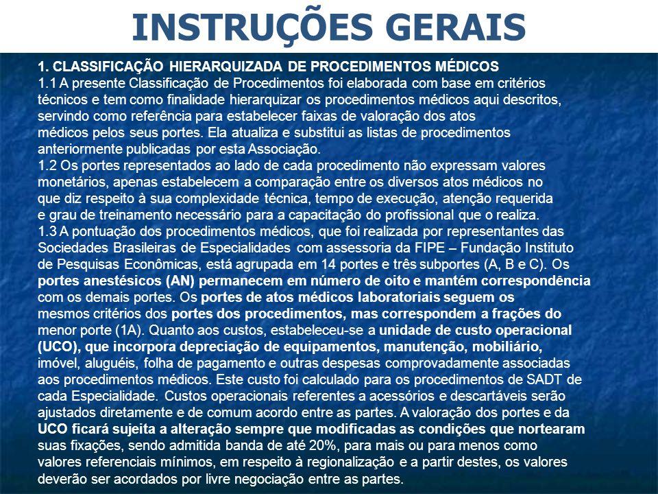 INSTRUÇÕES GERAIS 1.