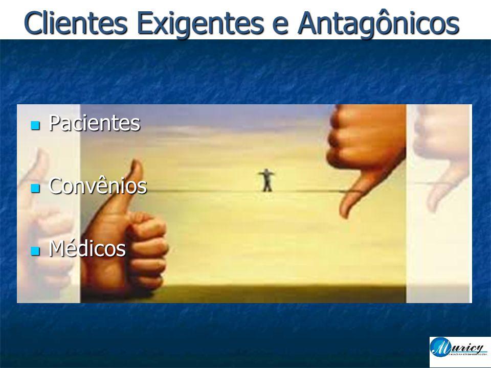  Pacientes  Convênios  Médicos Clientes Exigentes e Antagônicos