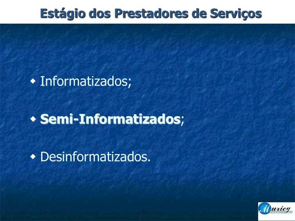  Informatizados;  Semi-Informatizados  Semi-Informatizados;  Desinformatizados.