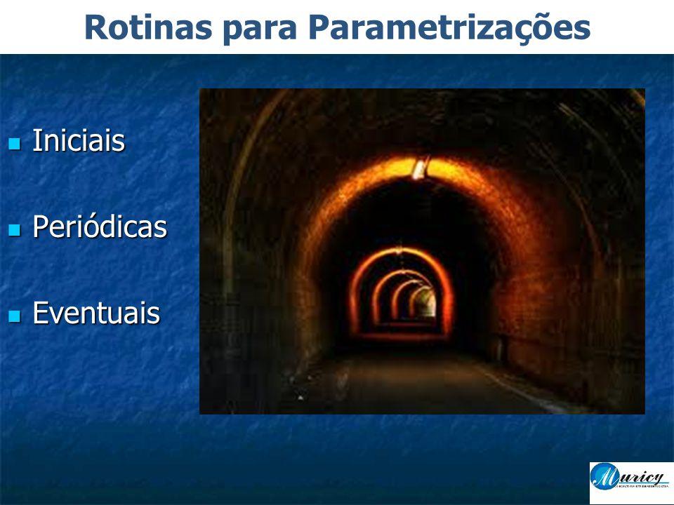  Iniciais  Periódicas  Eventuais Rotinas para Parametrizações