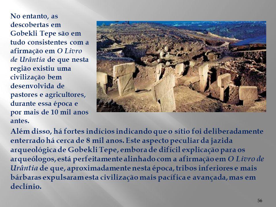 56 Além disso, há fortes indícios indicando que o sítio foi deliberadamente enterrado há cerca de 8 mil anos. Este aspecto peculiar da jazida arqueoló