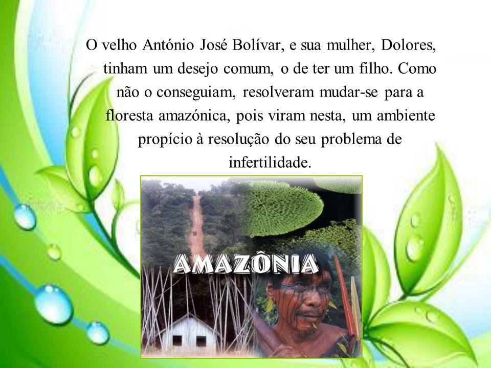 O velho António José Bolívar, e sua mulher, Dolores, tinham um desejo comum, o de ter um filho. Como não o conseguiam, resolveram mudar-se para a flor