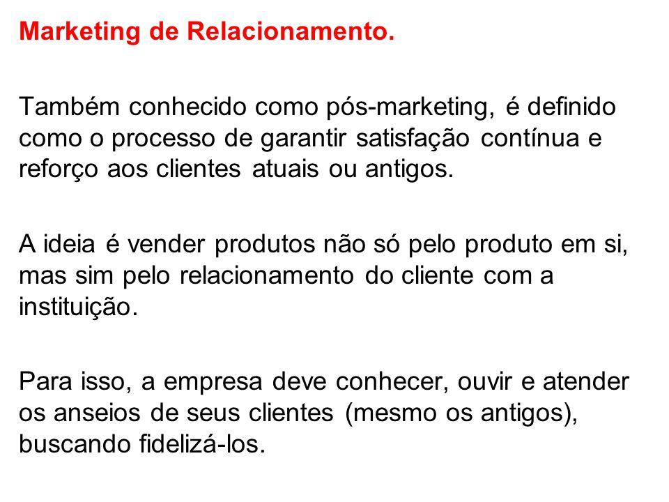 Marketing de Relacionamento.