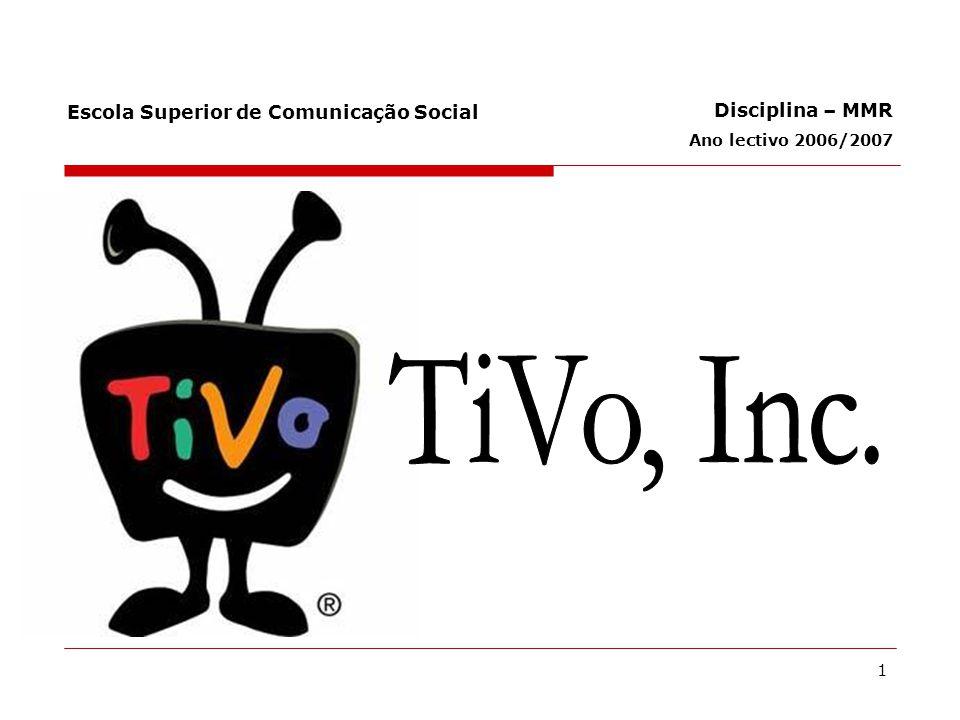 22 Efeitos de rede – importância na TiVo Com o aumento do número de utilizadores e novas parcerias, o mercado tenderá a dificultar a entrada de concorrência no mercado.
