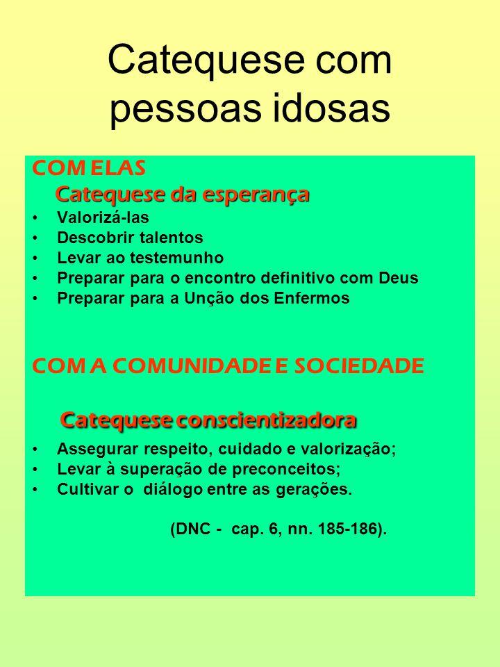 CATEQUESE COM ADULTOS ESPAÇOS PRIVILEGIADOS CATEQUESE COM ADULTOS ESPAÇOS PRIVILEGIADOS (cf.DNC-cap.6,n.227-230 FAMÍLIA, ESCOLA, TRABALHO, LAZER.