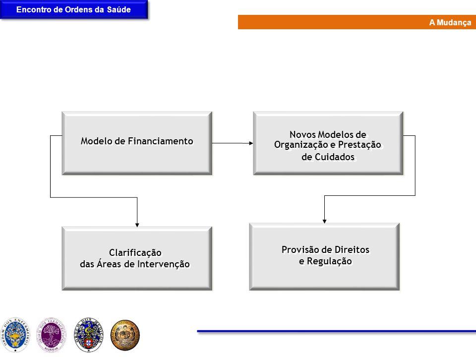 Modelo de Financiamento Novos Modelos de Organização e Prestação de Cuidados Novos Modelos de Organização e Prestação de Cuidados Provisão de Direitos