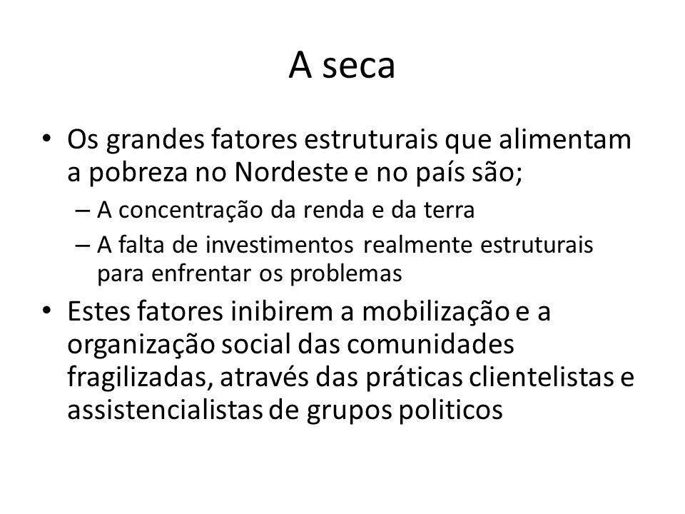 Mapa da pobreza no Brasil Insuficiência de rendaCarência de serviços públicos Fonte: Brasil.