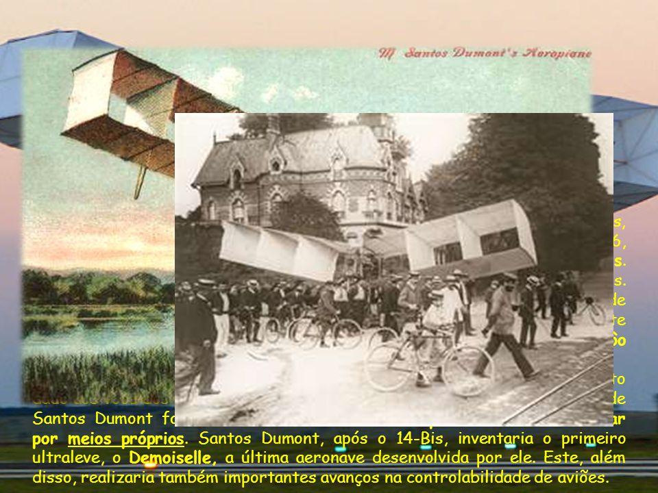 Após ter sido o primeiro homem a provar a dirigibilidade dos balões, Santos Dumont passou a se dedicar à aviação. Em 23 de outubro de 1906, Santos Dum