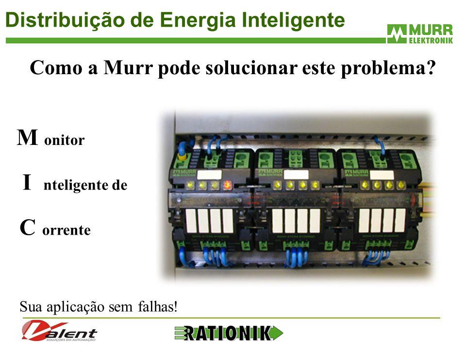 Distribuição de Energia Inteligente M onitor Como a Murr pode solucionar este problema? C orrente Sua aplicação sem falhas! I nteligente de