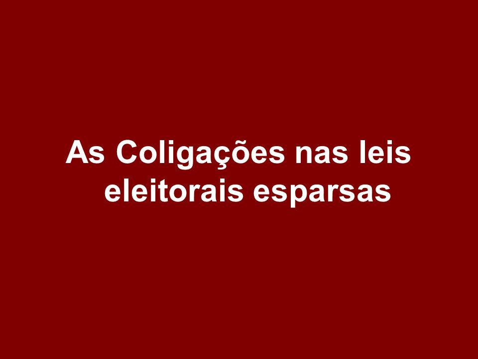 As Coligações nas leis eleitorais esparsas