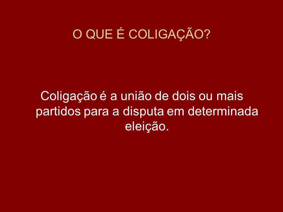 •Ou poderão se coligar, A B, de um lado, C D, de outro, formando duas coligações proporcionais distintas.
