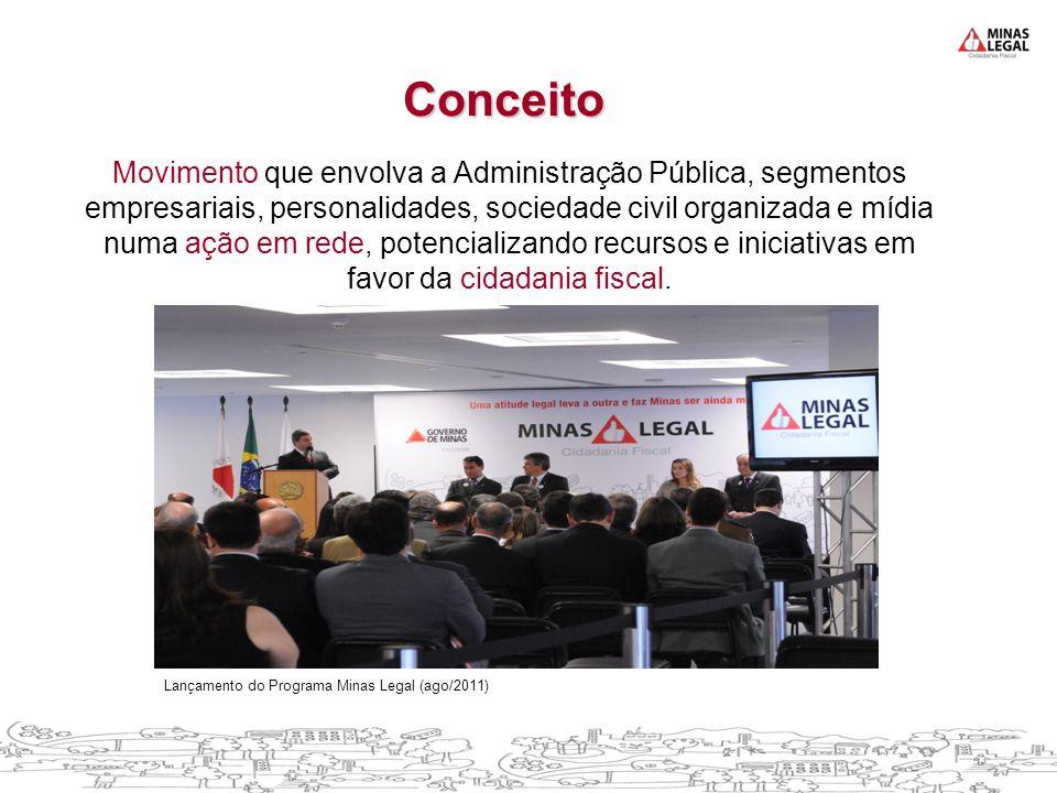 Movimento que envolva a Administração Pública, segmentos empresariais, personalidades, sociedade civil organizada e mídia numa ação em rede, potencializando recursos e iniciativas em favor da cidadania fiscal.