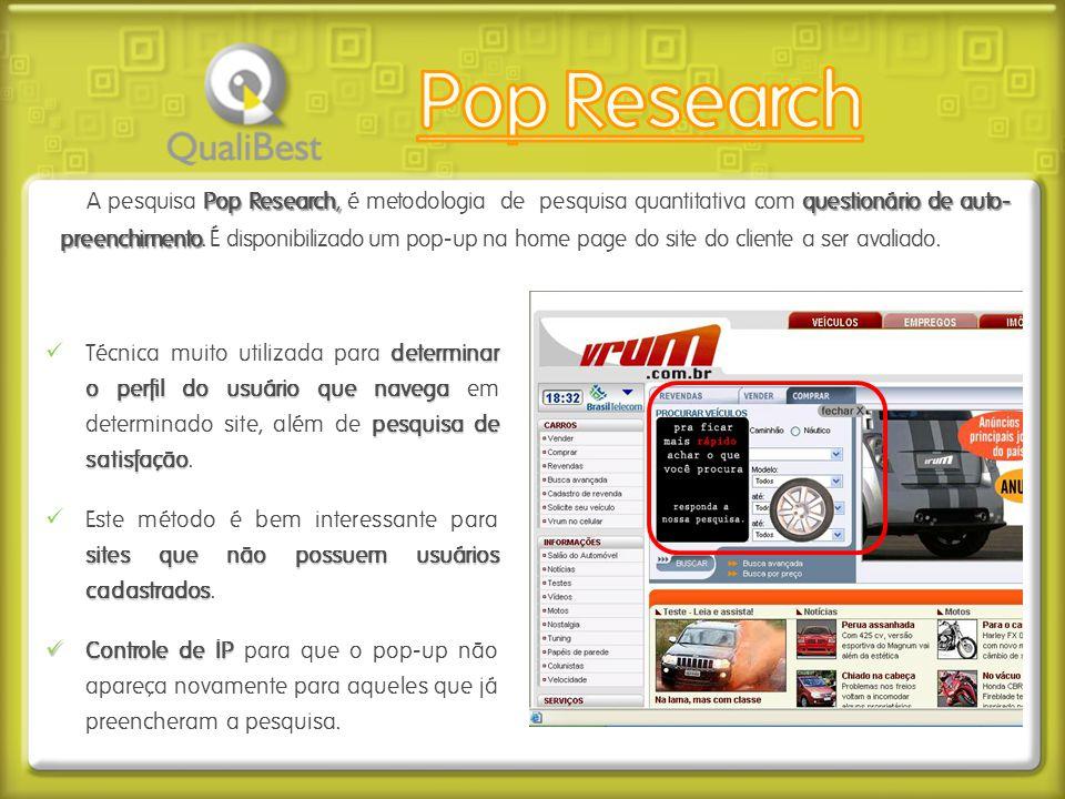 determinar o perfil do usuário que navega pesquisa de satisfação  Técnica muito utilizada para determinar o perfil do usuário que navega em determina