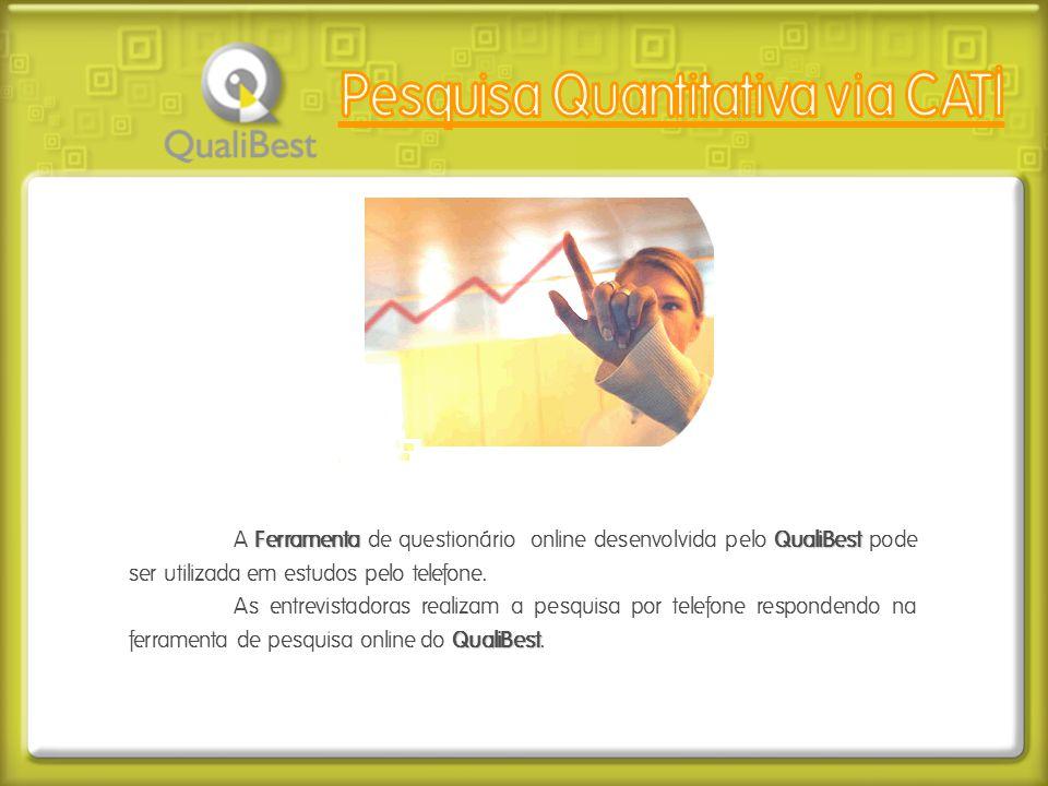 FerramentaQualiBest A Ferramenta de questionário online desenvolvida pelo QualiBest pode ser utilizada em estudos pelo telefone. QualiBest As entrevis
