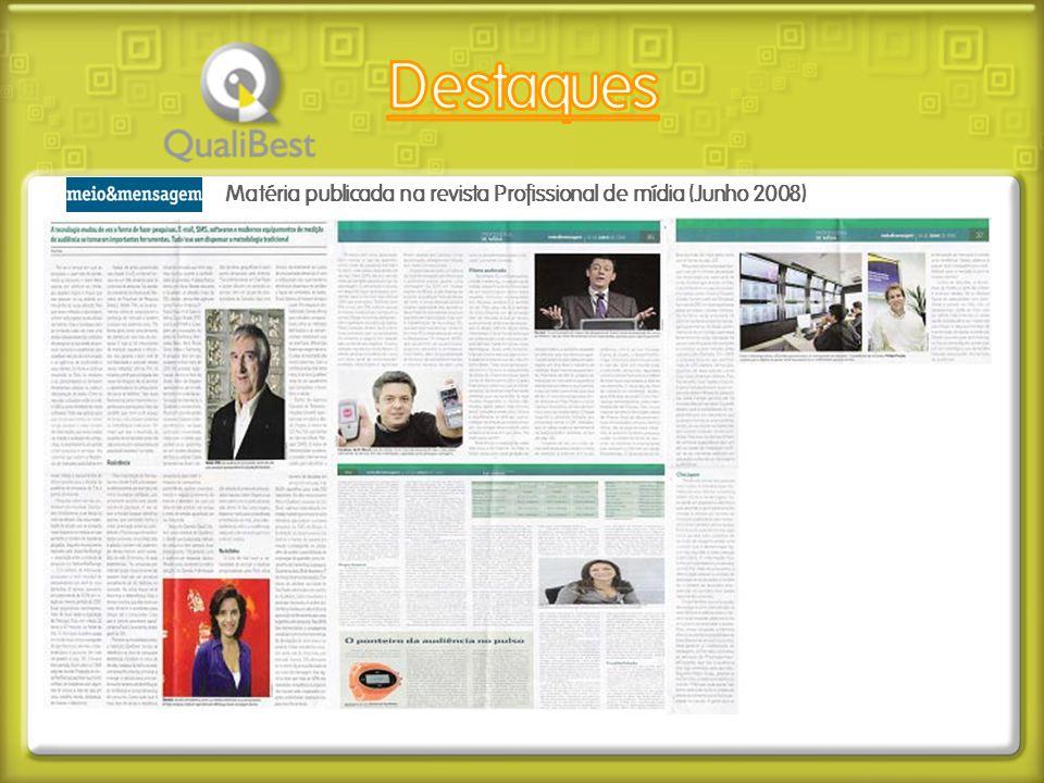 Matéria publicada na revista Profissional de mídia (Junho 2008)