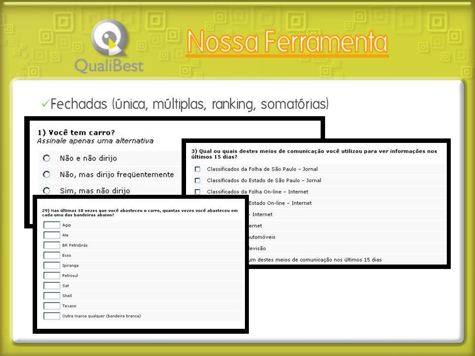  Fechadas (única, múltiplas, ranking, somatórias)