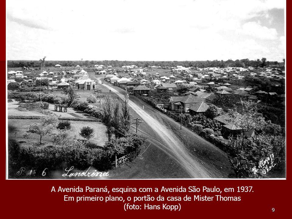 30 A esquina das Ruas Minas Gerais e Maranhão, anos 50 (Foto: Francisco de Almeida Lopes)