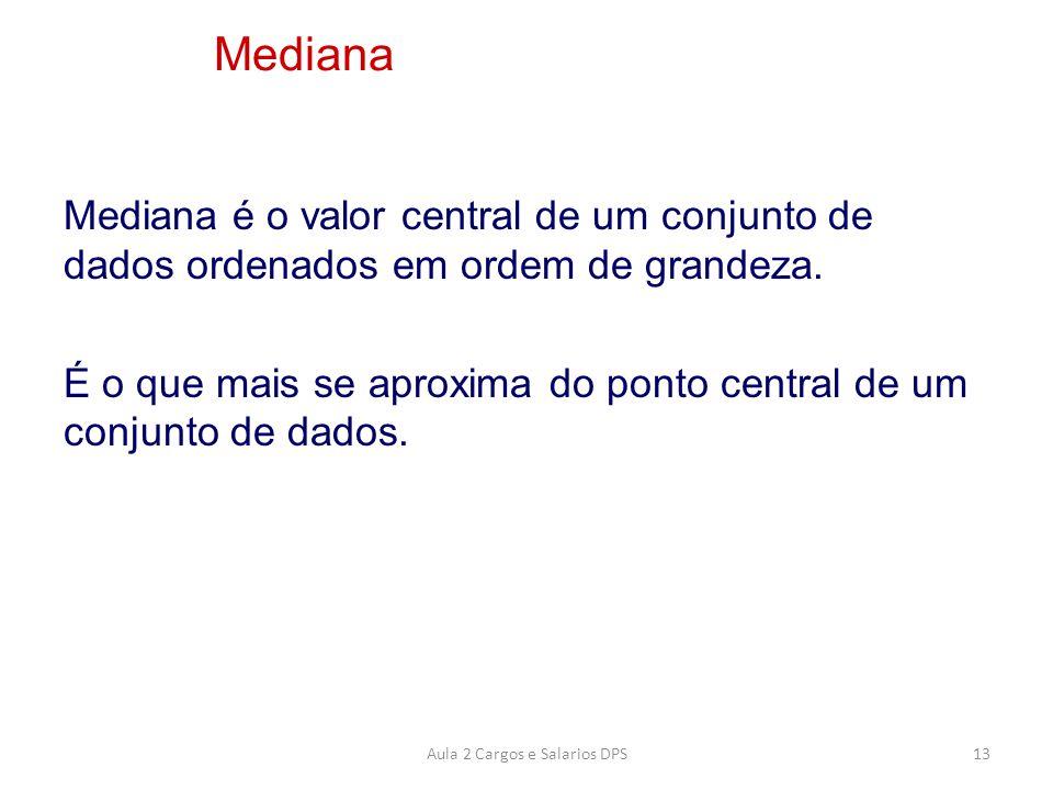 Mediana é o valor central de um conjunto de dados ordenados em ordem de grandeza. É o que mais se aproxima do ponto central de um conjunto de dados. M