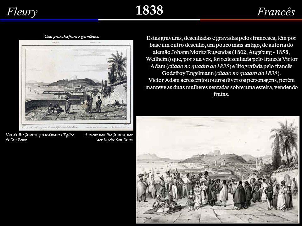 1838 Jean Baptiste Dürand-Brager Vista da Baía do Rio de Janeiro Paisagem romântica e com muita fantasia das montanhas do estado do Rio de Janeiro, vistas da baía.