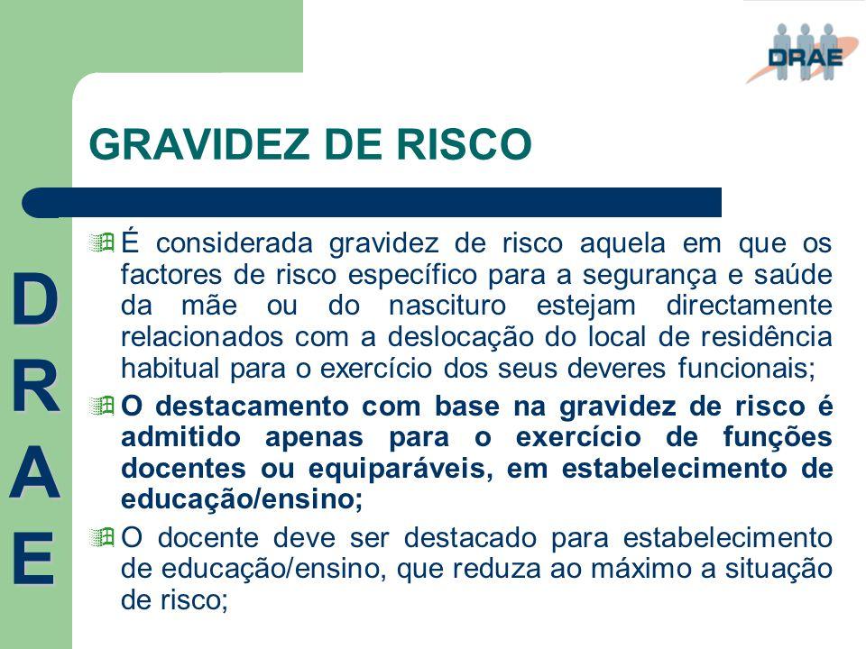 GRAVIDEZ DE RISCO  É considerada gravidez de risco aquela em que os factores de risco específico para a segurança e saúde da mãe ou do nascituro este