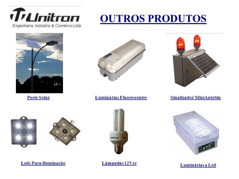 Engenharia, Indústria & Comércio Ltda. OUTROS PRODUTOS Poste Solar Leds Para Iluminação Sinalizador MiniAutoSinLuminárias Fluorescentes Luminárias a L