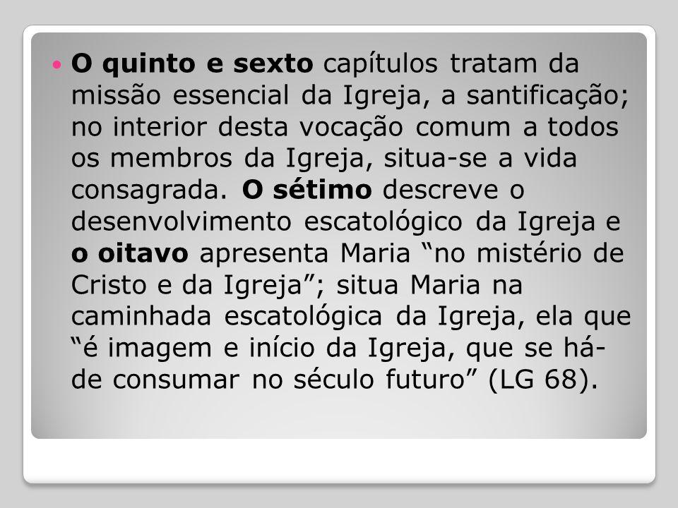  Em segundo lugar, segundo a ordem dos capítulos, os dois primeiros apresentam o ensino sobre o mistério da Igreja; enquanto o primeiro considera o c