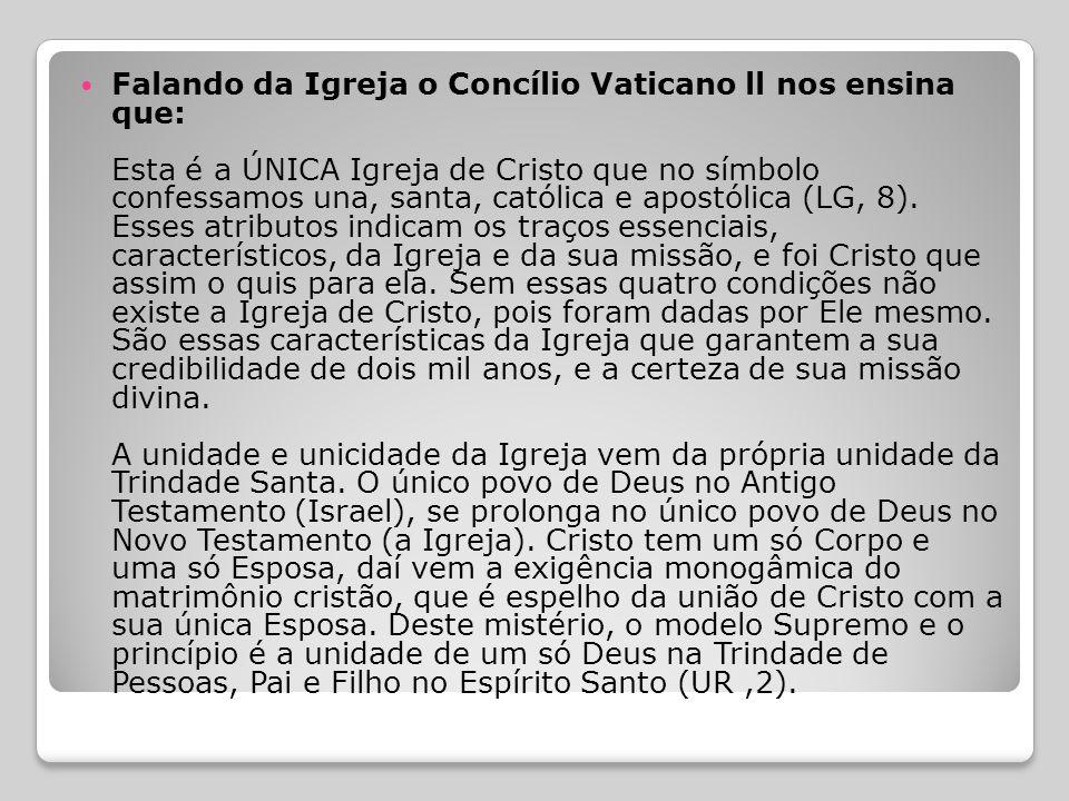  Igreja Una e Santa  Acreditamos em um Deus.... Cremos em um só Senhor, Jesus Cristo....