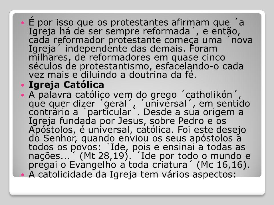  Enfim, podemos dizer que a Igreja é Santa; e esta santidade não provém dos homens, mas do próprio Cristo que nela está, de modo permanente, como Cab