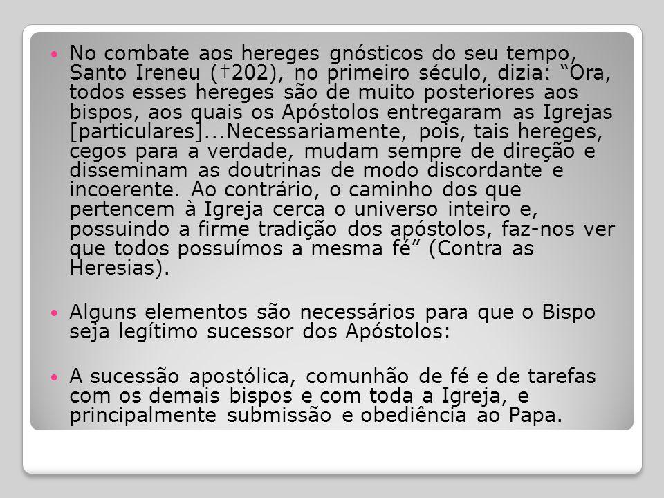  Ninguém ouse fazer sem o bispo coisa alguma concernente à Igreja. Como válida só se tenha a eucaristia celebrada sob a presidência do bispo ou de um