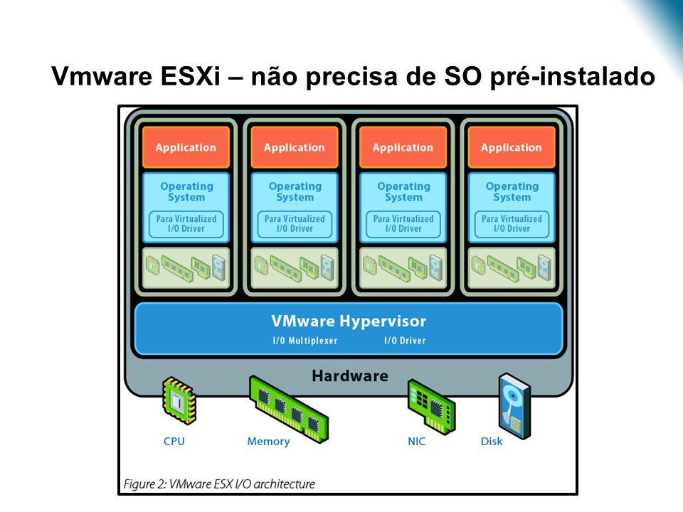 •Vmware ESXi – não precisa de SO pré-instalado