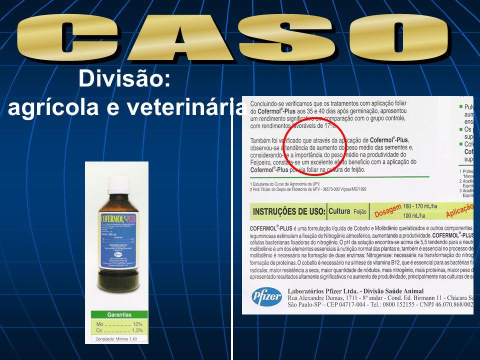 Divisão: agrícola e veterinária