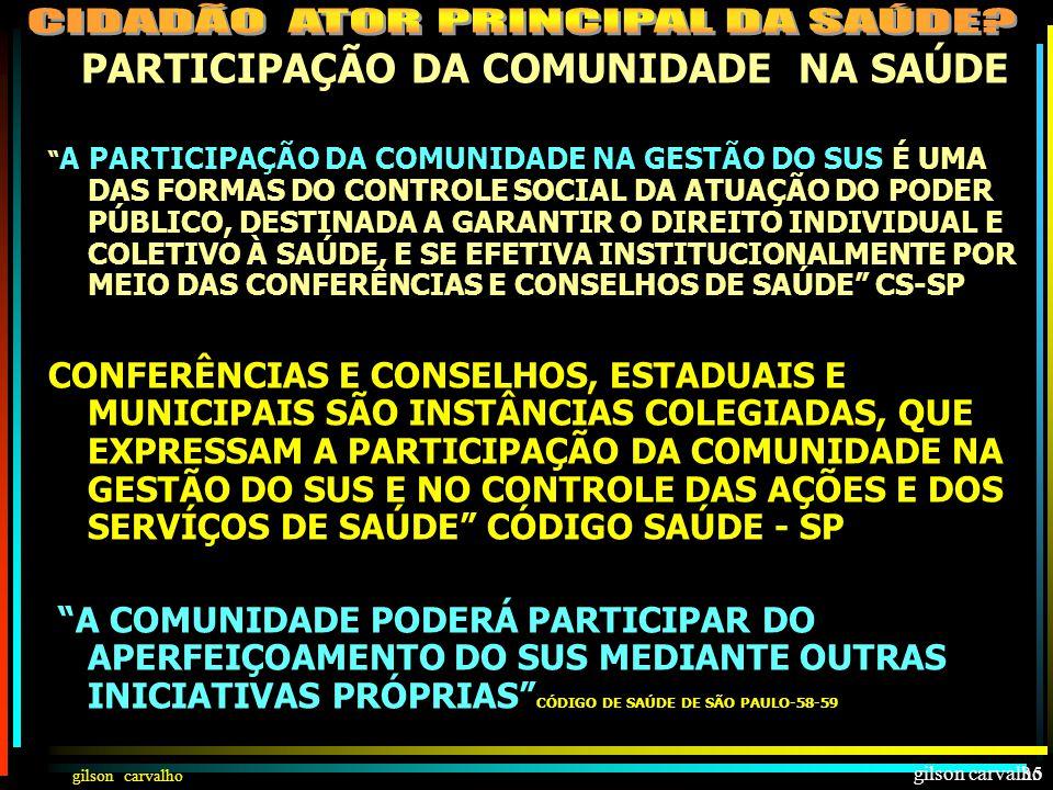 gilson carvalho34 PARTICIPAÇÃO DA COMUNIDADE NA SAÚDE INDIVIDUALCOLETIVO PARTICIPAÇÃO NA ATENÇÃO INDIVIDUAL DIREITO À INFORMAÇÃO E AUTONOMIA DE DECISÃ