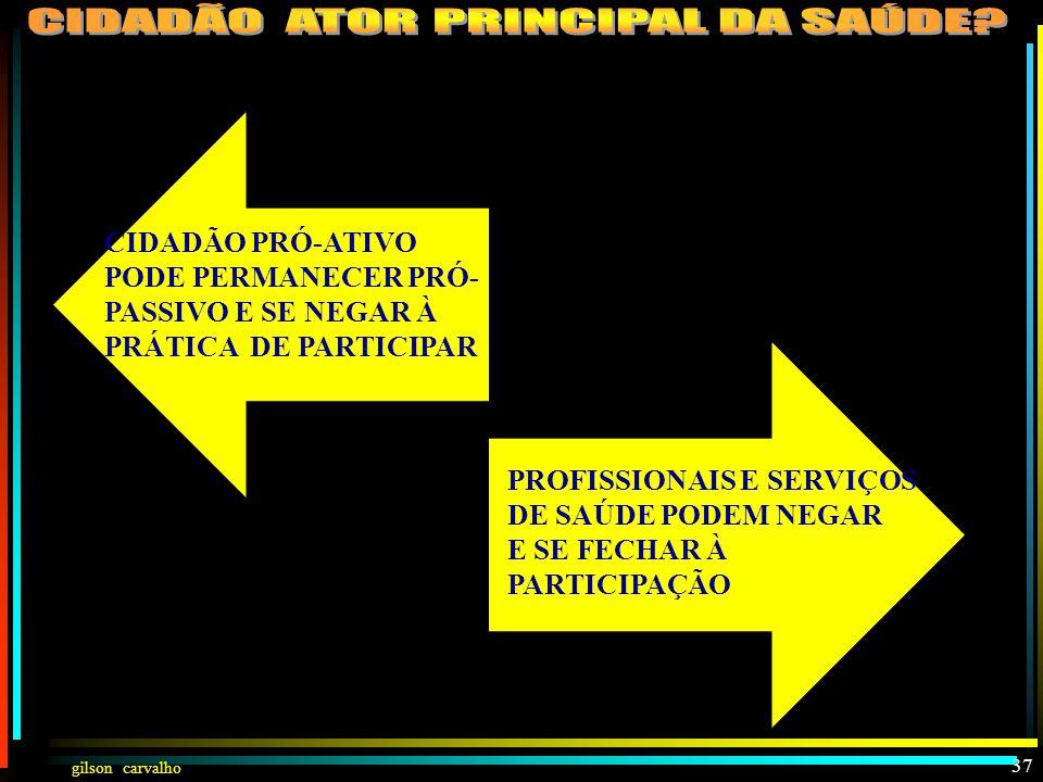 gilson carvalho III PARTICIPAÇÃO DO CIDADÃO NA BUSCA DE SAÚDE INDIVIDUALMENTE 36