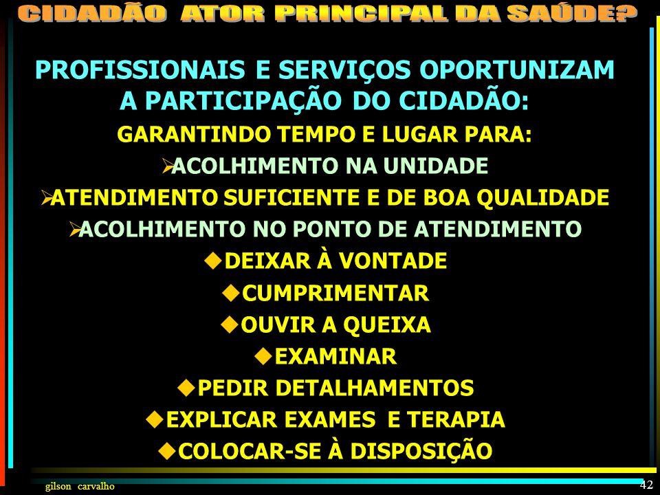 gilson carvalho CIDADÃO PARTICIPA INDIVIDUALMENTE COMO ATOR PRINCIPAL PRÓ-ATIVO:  ACESSANDO AÇÕES E SERVIÇOS  CONHECENDO, ENTENDENDO E RESPEITANDO A