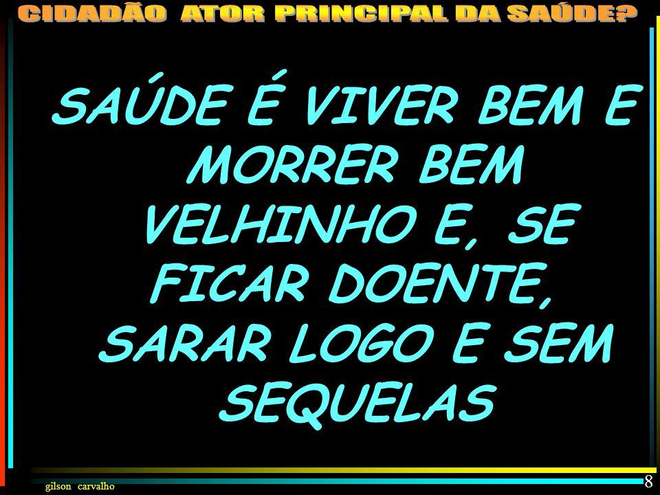 gilson carvalho 7 VIVER MAIS: … A LINHA DO TEMPO… VIVER MELHOR: … A LINHA DA QUALIDADE