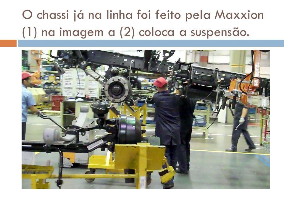 O chassi já na linha foi feito pela Maxxion (1) na imagem a (2) coloca a suspensão.
