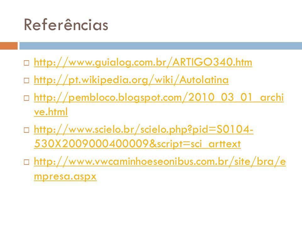 Referências  http://www.guialog.com.br/ARTIGO340.htm http://www.guialog.com.br/ARTIGO340.htm  http://pt.wikipedia.org/wiki/Autolatina http://pt.wiki