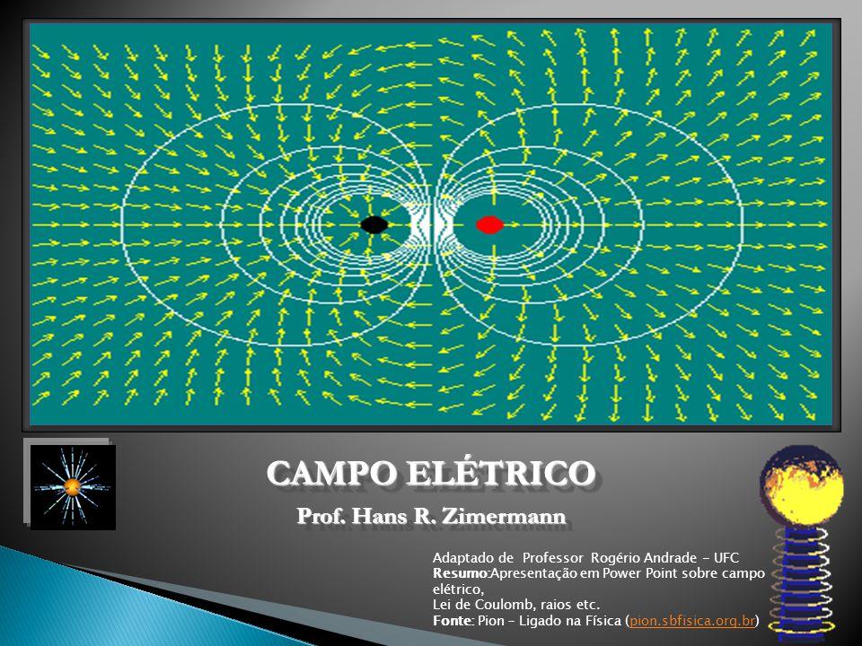 CAMPO ELÉTRICO Adaptado de Professor Rogério Andrade - UFC Resumo:Apresentação em Power Point sobre campo elétrico, Lei de Coulomb, raios etc. Fonte: