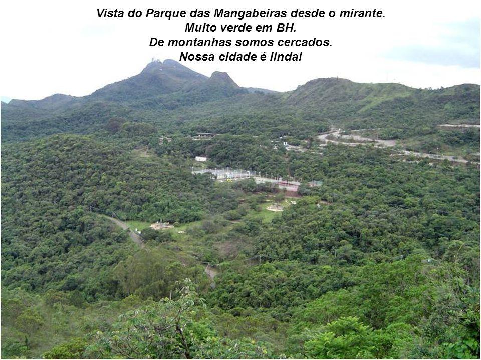 Vista da cidade: mirante das Mangabeiras. Pelas ruas do bairro temos a oportunidade de admirar o panorama! Observe a vegetação. Nossa terra é um poema