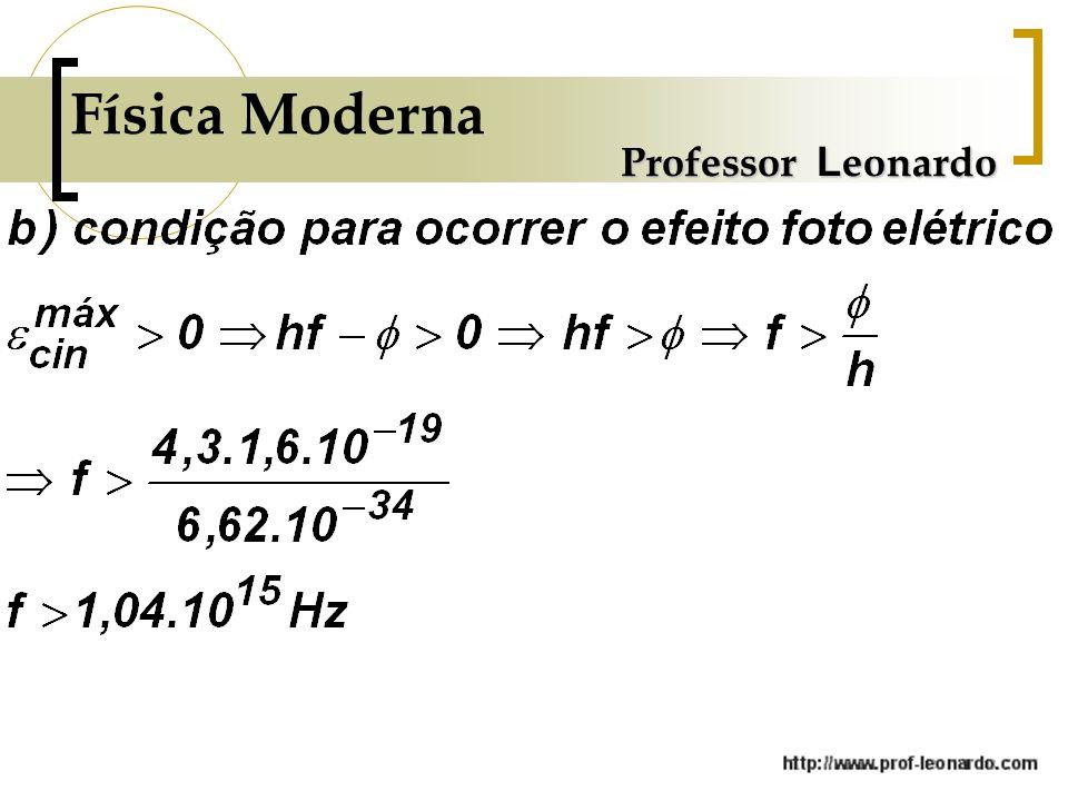 Física Moderna Professor L eonardo