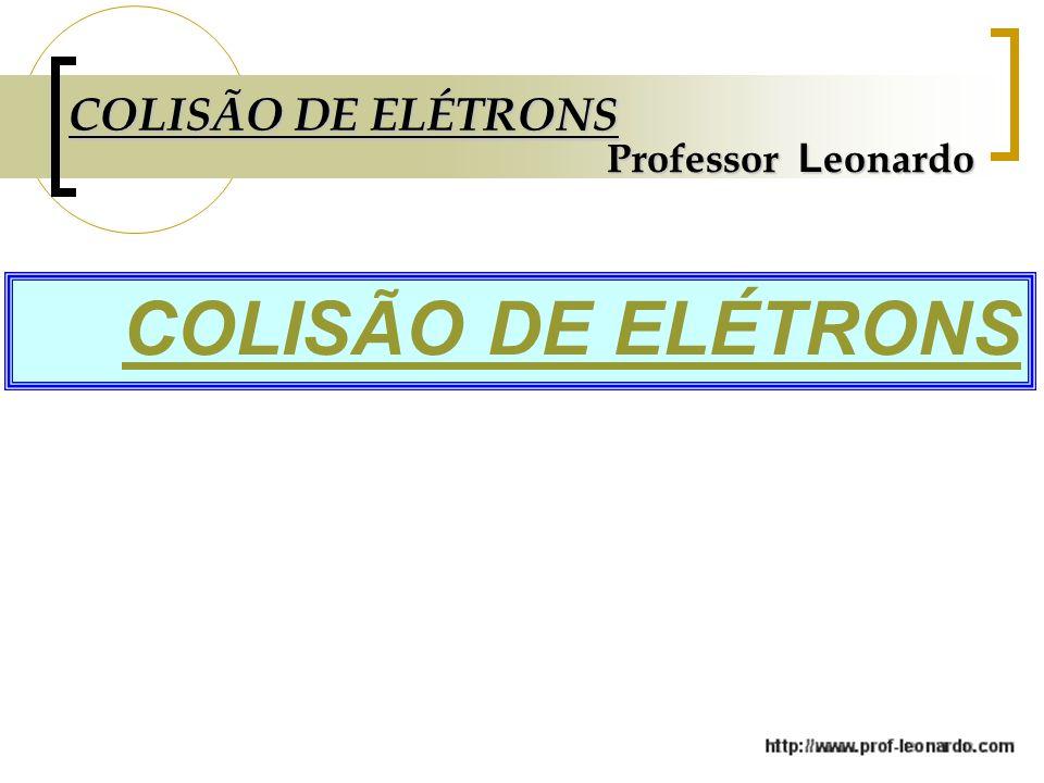 COLISÃO DE ELÉTRONS Professor L eonardo COLISÃO DE ELÉTRONS