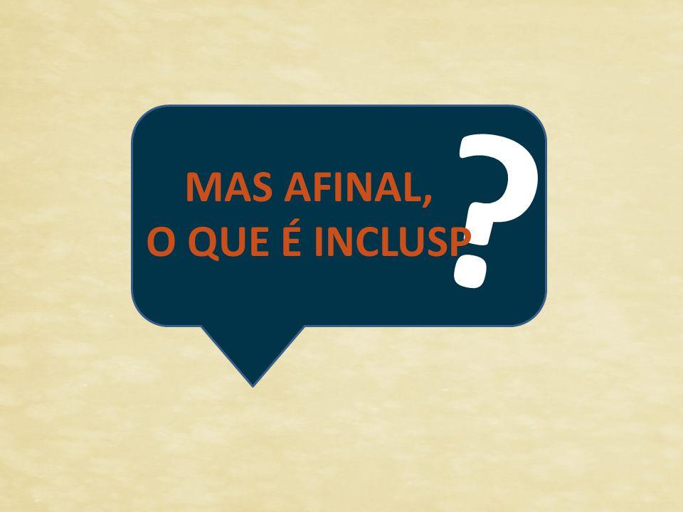 ? MAS AFINAL, O QUE É INCLUSP