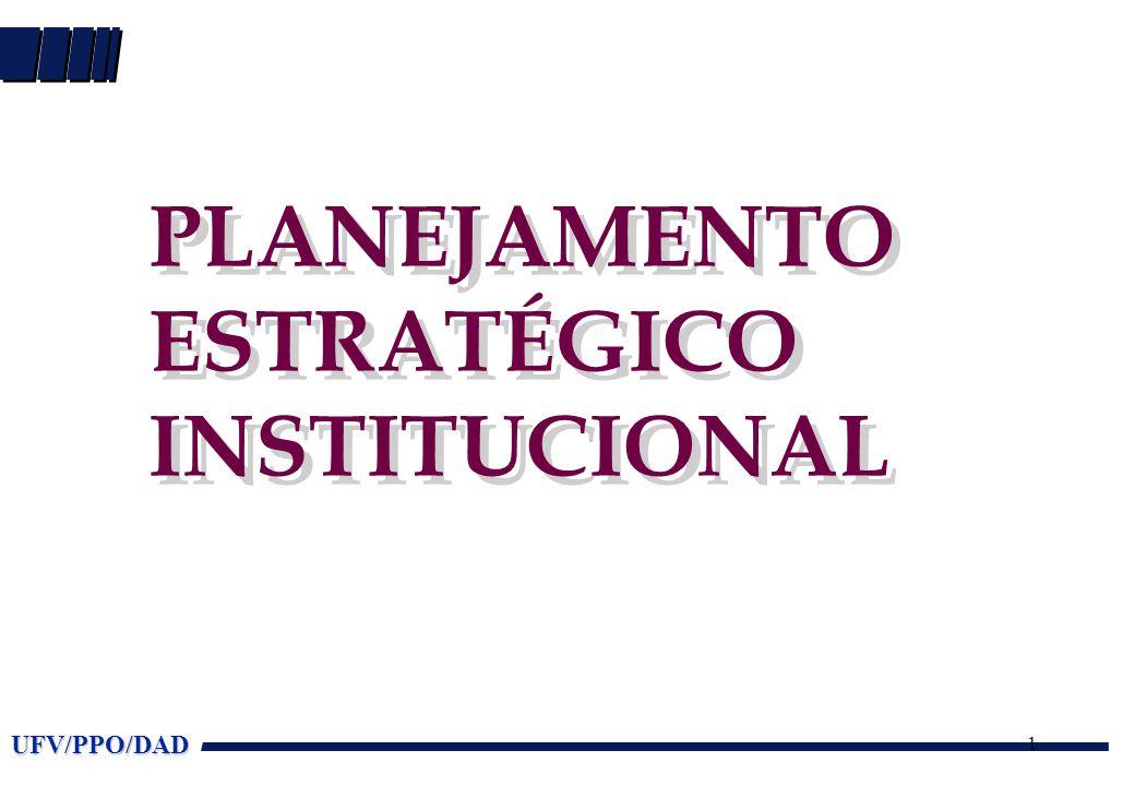 UFV/PPO/DAD 1 PLANEJAMENTO ESTRATÉGICO INSTITUCIONAL