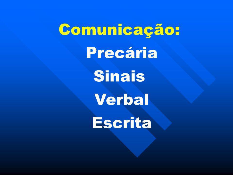 Comunicação: Precária Sinais Verbal Escrita