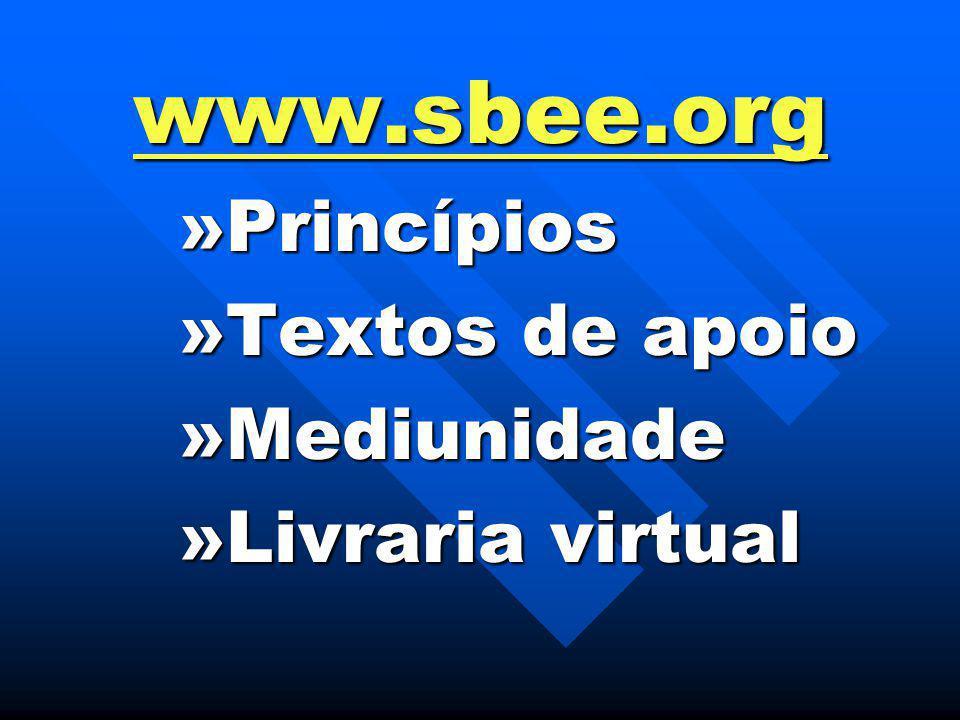 www.sbee.org »Princípios »Textos de apoio »Mediunidade »Livraria virtual
