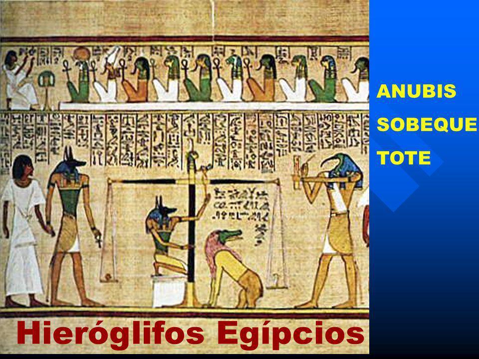 Hieróglifos Egípcios ANUBIS SOBEQUE TOTE