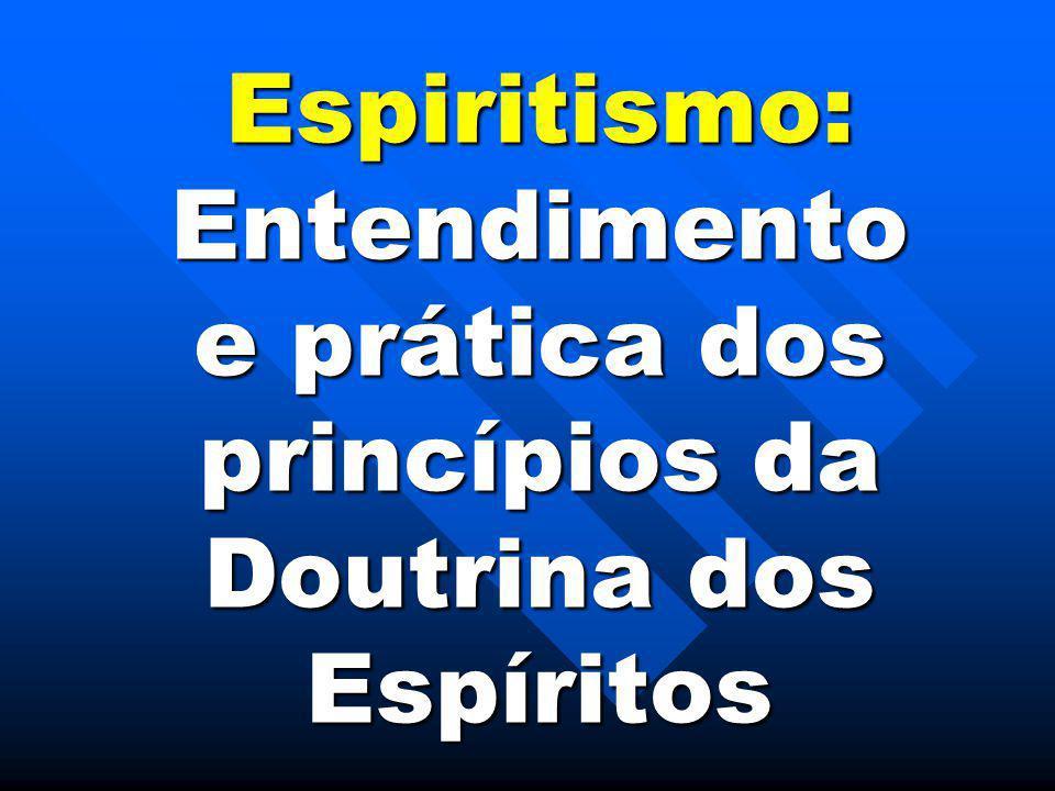 Espiritismo:Entendimento e prática dos princípios da Doutrina dos Espíritos